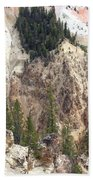 Sit For A Spell At Grand Canyon In Yellowstone Beach Towel