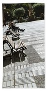 Sitting In The Park - Madrid Beach Towel