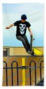 Skateboarding Xi Beach Towel