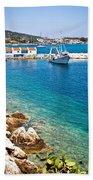 Skiathos Harbour Beach Towel