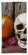 Skull And Gourds Beach Towel