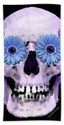 Skull Art - Day Of The Dead 3 Beach Towel