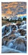 Sky Blue Falls Beach Towel
