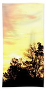 Sky Of Fire Beach Towel