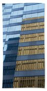 Sky Scraper Tall Building Abstract With Windows And Reflections No.0102 Beach Towel