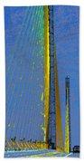 Skyway Crossing Beach Towel by David Lee Thompson