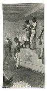 Slave Auction, 1861 Beach Towel by Photo Researchers