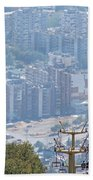 Sliven Bulgaria From Chair Lift Beach Towel