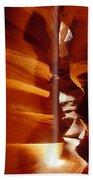 Slot Canyon Shaft Of Light Beach Sheet