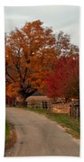 Small Country Road Beach Towel