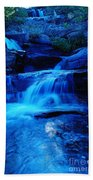 Small Waterfall Going Into Spirit Lake  Beach Towel