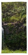 Small Waterfall - Hana Highway Beach Towel