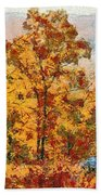 Smoke Tree In The Karst Beach Towel