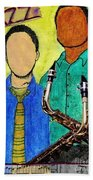 Smooth Jazz Beach Towel