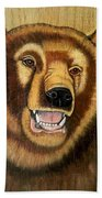 Snarling Grizzly Beach Towel