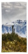Snow Atop The Superstitions Beach Towel