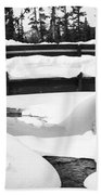 Snow Bridge In Canadian Rockies Beach Towel