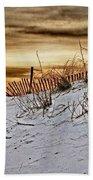 Snow Fence On Horizon Beach Towel