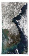 Snow In Korea Beach Towel by Stocktrek Images