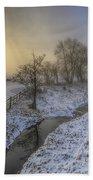 Snow Landscape Sunrise 2.0 Beach Towel