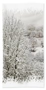 Snow Scene 1 Beach Towel