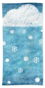 Snow Winter Beach Towel