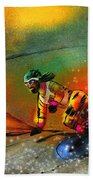 Snowboarding 03 Beach Towel