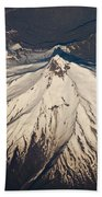 Snowcovered Volcano Andes Chile Beach Towel by Colin Monteath