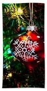 Snowflake Ornament Beach Sheet