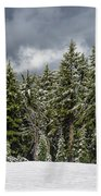 Snowstorm In The Cascades Beach Towel