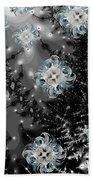 Snowy Night IIi Fractal Beach Towel