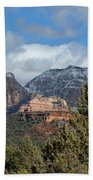 Snowy Sedona Afternoon Beach Towel