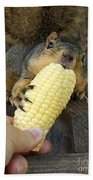 So Much Sweet Corn So Little Time Beach Towel