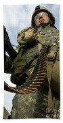 Soldier Mans A Vehicle Mounted 7.62 Mm Beach Towel by Stocktrek Images