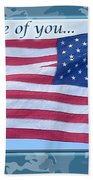 Soldier Veteran Thank You Beach Towel