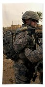 Soldiers Help One Another Beach Towel by Stocktrek Images