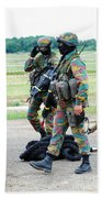Soldiers Of The Special Forces Group Beach Sheet