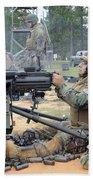 Soldiers Operate A Mk-19 Grenade Beach Towel by Stocktrek Images