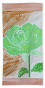 Solitary Rose Beach Towel