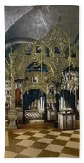 Solovetsky Monastery On The Kola Peninsula - Russa - Ca 1900 Beach Towel