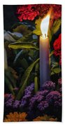 Soothing Candle Light Beach Towel