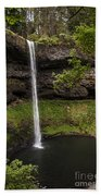 South Silver Falls Into The Pool Beach Towel