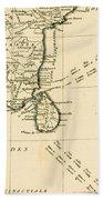 Southern India And Ceylon Beach Towel