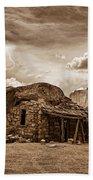 Southwest Indian Rock House And Lightning Striking Beach Towel
