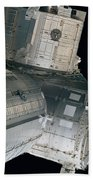 Space Shuttle Discovery And Components Beach Towel