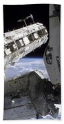 Space Shuttle Discovery Docked Beach Towel