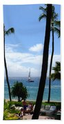 Sparkling Sea At Kaanapali Maui Beach Towel