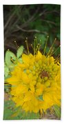 Yellow Bee Plant Sparks Beach Towel