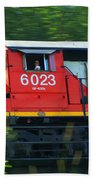 Speeding Cn Train Beach Towel