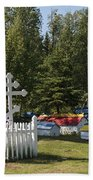 Spirit Houses Of Eklutna Beach Towel